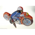Racing Motorcycle w/ Rider Wind Up Japan Made