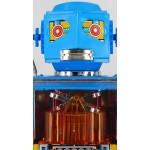 JAPANESE TIN TOY BATTERY NEW PISTON  ROBOT by METAL HOUSE