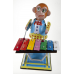 Monkey Playing Xylophone Wind Up Tin Toy