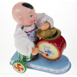Child Beating Drum Wind Up Tin Toy