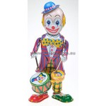 Clown Beating Drum in Box Wind Up
