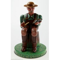 CLASSIC BATTERY LITHOGRAPH ALL TIN TOY FARMER JAPANESE RARE