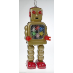 Gold Robot w/ Clogs & Sparks in Chest Clockwork