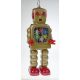 Gold, Silver or Black Robot w/ Clogs & Sparks in Chest Clockwork
