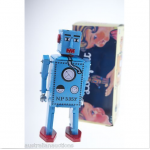 Blue Lilliput Robot