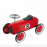 Little Racer Ride on Push Along Car All Metal Construction  Red or Blue