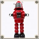 Tin Toy Battery and Clockwork Robots